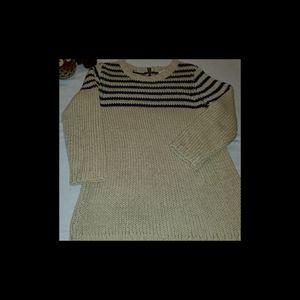 Ann Taylor Loft Medium Petite Ribbed Sweater